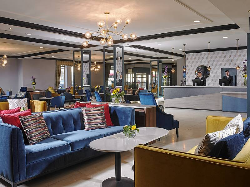 The Hotel: Lobby and Reception area at Camden Court Hotel Dublin